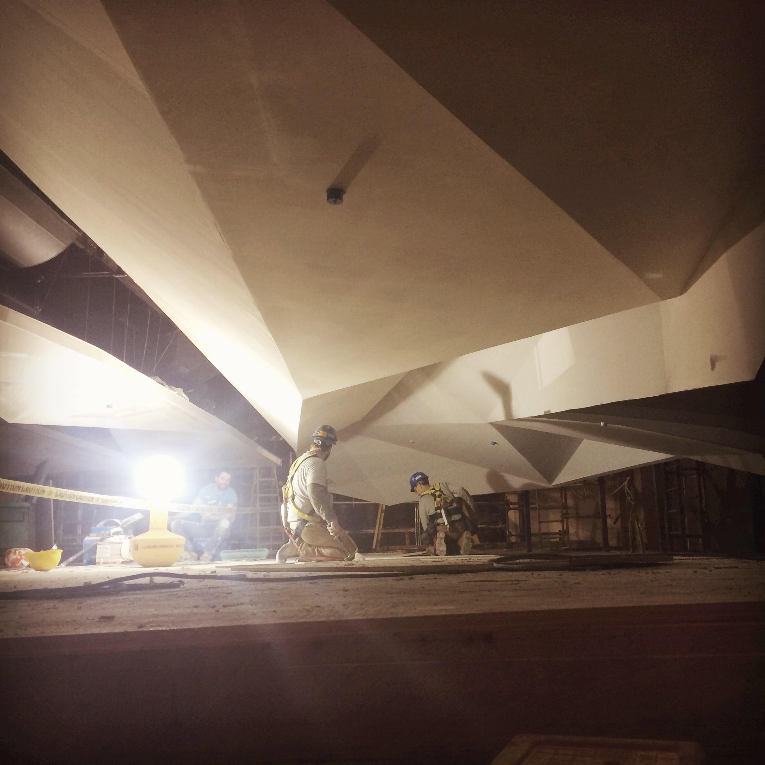 Acoustic Ceiling Panel Construction